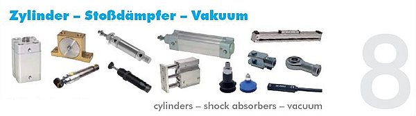 Pneumatikatlas: Zylinder - Stoßdämpfer - Vakuum